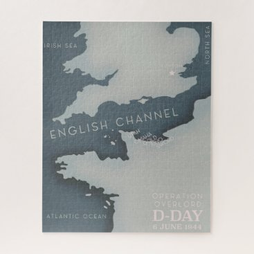 D-Day Operation overlord Military poster. Jigsaw Puzzle