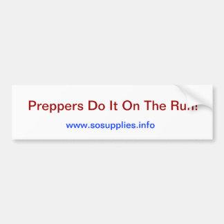 D-DAY - PREPPERS- Bumper Sticker Car Bumper Sticker