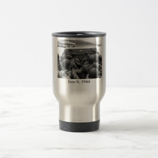 D-Day Soldiers In A Higgins Boat 15 Oz Stainless Steel Travel Mug