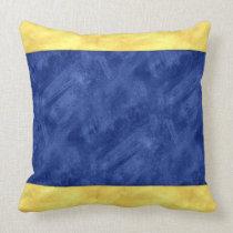 D Delta Watercolor Nautical Signal Maritime Flag Throw Pillow