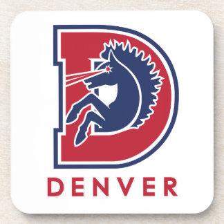 D Denver Logo Drink Coasters