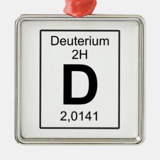 D - Deuterium Metal Ornament