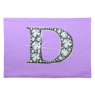 """D"" Diamond Bling American MoJo Placemat"