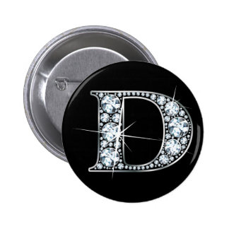 """""""D"""" Diamond Bling Button"""