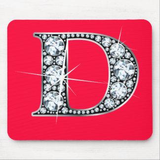 """D """"Diamond Bling"""" Print Mousepad"""