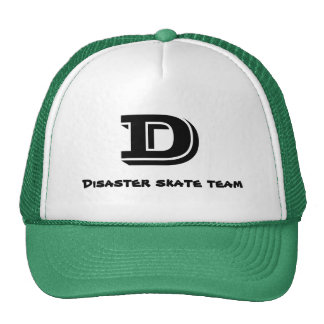 D, Disaster skate team Hat
