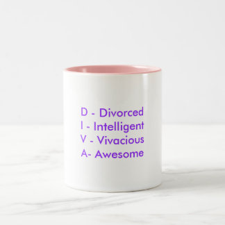 D - DivorcedI - IntelligentV - VivaciousA- Awesome Coffee Mug