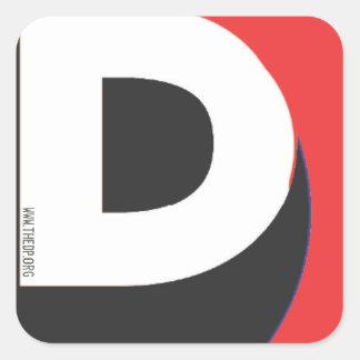 D Dot ORG Sticker