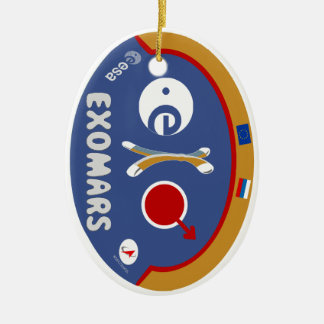 D Double-Sided OVAL CERAMIC CHRISTMAS ORNAMENT