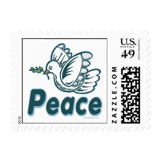 D - Dove of Peace Stamp