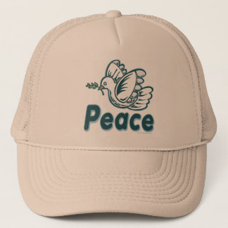 D - Dove, Olive Branch, Peace Trucker Hat