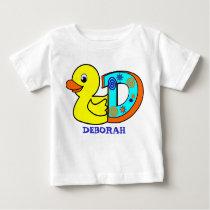 D DUCK, name initials Baby T-Shirt