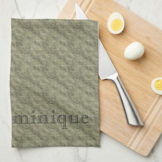 D - Embossed Vintage Monogram Gold Kitchen Towels