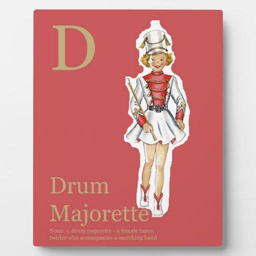 D está para el alfabeto de la moda del Majorette d Placas De Plastico