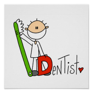 D está para el dentista póster