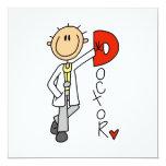 D está para el doctor invitación 13,3 cm x 13,3cm