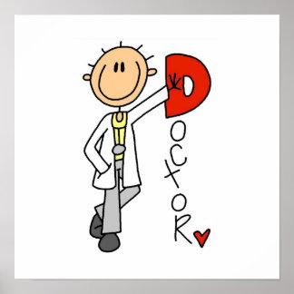 D está para el doctor poster