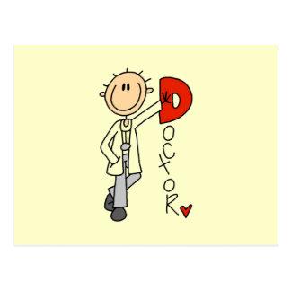 D está para el doctor tarjetas postales