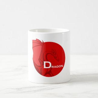 D está para el dragón taza