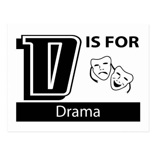 D está para el drama postal