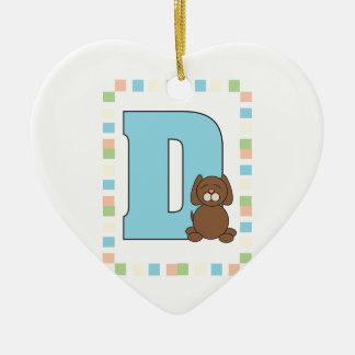 D está para el perro ornaments para arbol de navidad