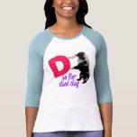 D está para el perro del disco - para mujer camiseta