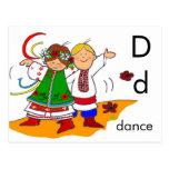 D está para la danza postal