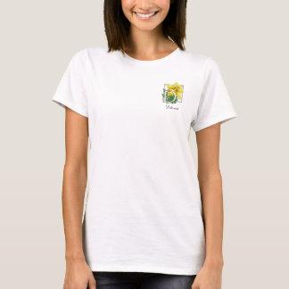 D for Daffodil Flower Monogram Shirt