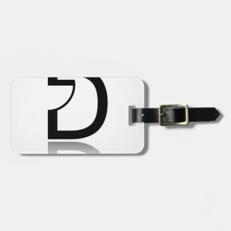 D for design bag tag