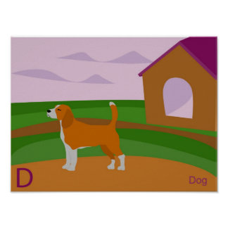 D for Dog Poster