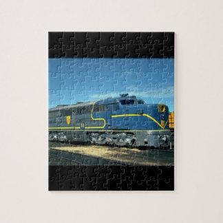 D&H Alco PA-1 #18. (tren; cielo; nubes; carril;) Puzzle