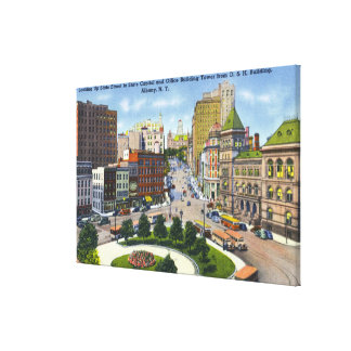 D & H Bldg View of State Street to Capitol Gallery Wrapped Canvas