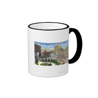 D & H Bldg View of State Street to Capitol Ringer Coffee Mug