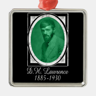 D.H. Lawrence Metal Ornament