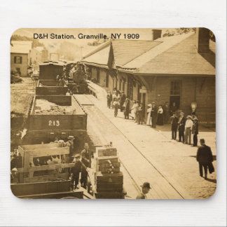 D H Station Granville NY 1909 Mousepad