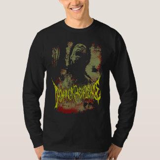 D.I.P 2 sided Distressed logo longsleeve t T-Shirt