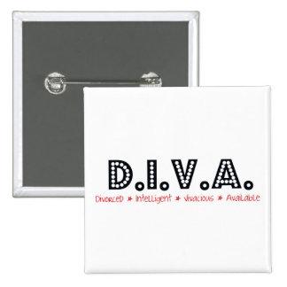 D.I.V.A. Mujer divorciada Pin