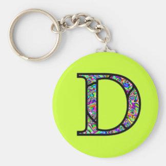 D Illuminated Monogram Key Chain