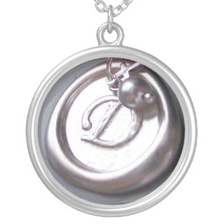 D in Wax Round Pendant Necklace
