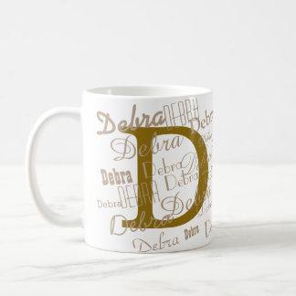 D initial custom coffee mug