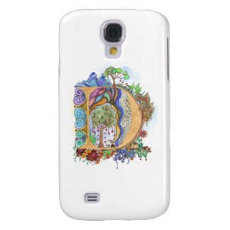 D, initial, monogram, wedding samsung galaxy s4 covers