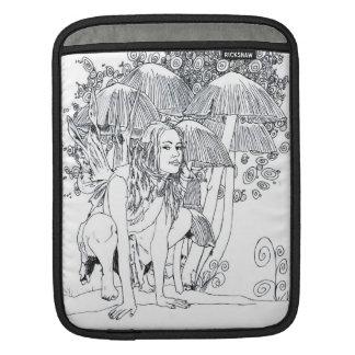 """D iPad & MacBook Sleeve """"Mushroom Fairy"""""""