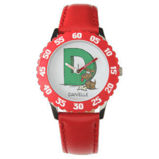 D is for ___ custom name Kid's Watch