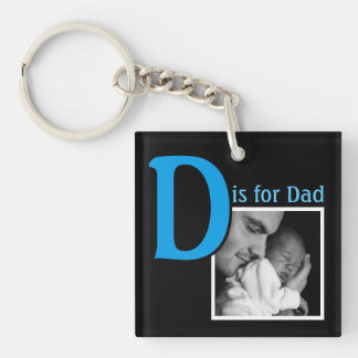 D is for Dad Keychain