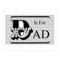 D is for Dad! Postcard