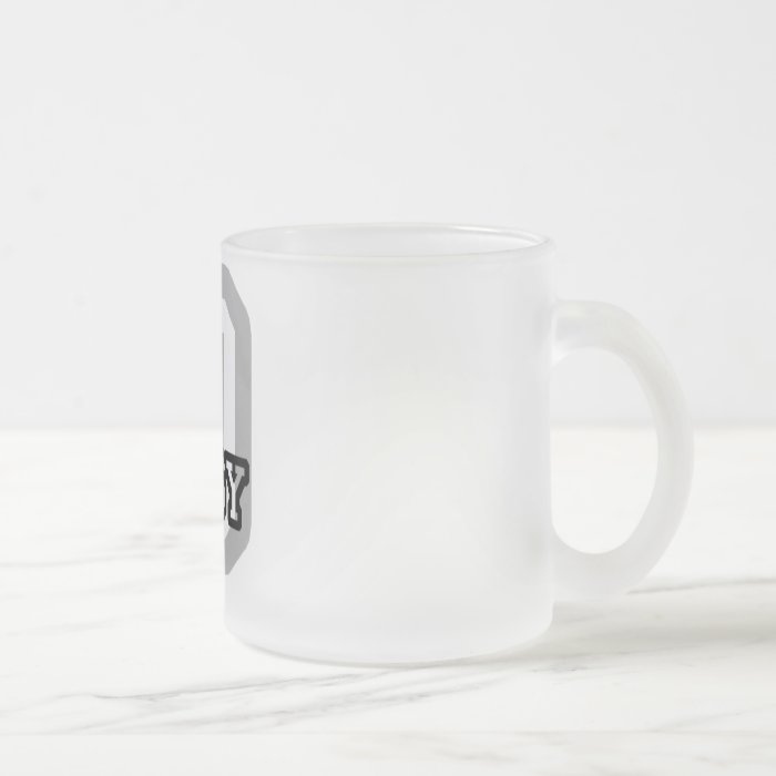 D is for Daisy Frosted Glass Coffee Mug