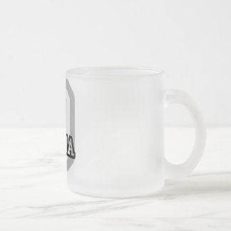 D is for Dania 10 Oz Frosted Glass Coffee Mug