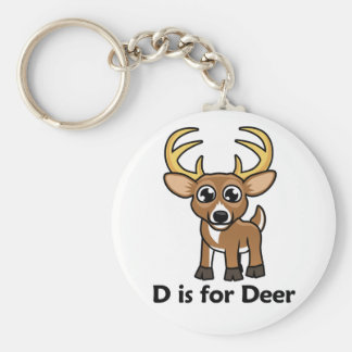 D is for Deer Keychain