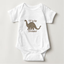 D is for Dinosaur Baby Bodysuit