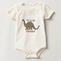 D is for Dinosaur Baby Bodysuit